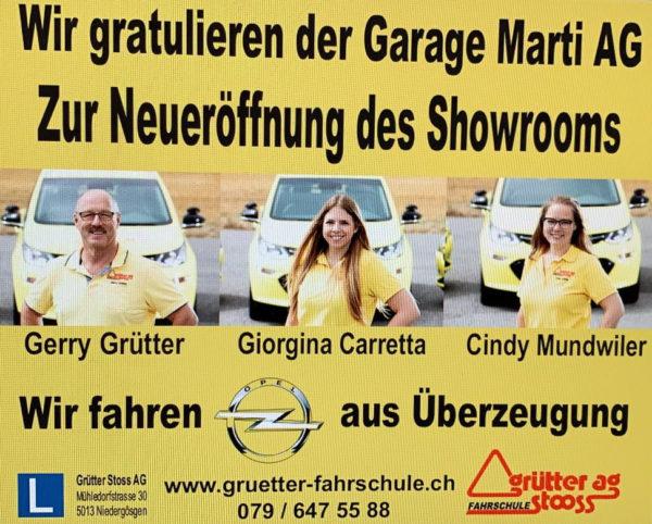 Neueröffnung Showroom Garage Marti AG